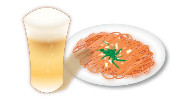 ナポリタンとビール